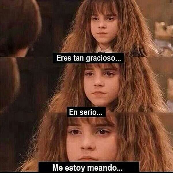 Hermione,siempre tan expresiva - meme