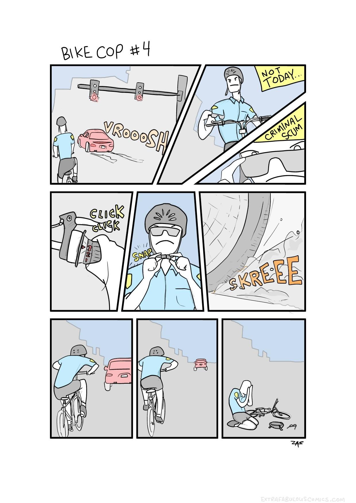 Silly bike cop - meme