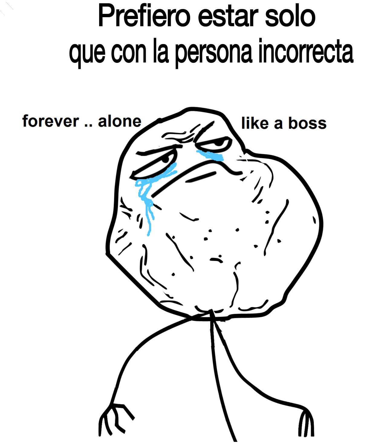 Forever Alone el 14 de Febrero - meme