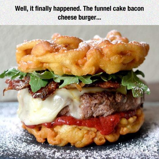Funnel Cake Burger - meme