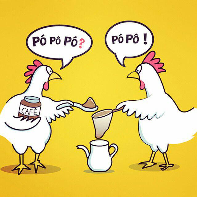 O título foi tomar café com as galinhas... - meme