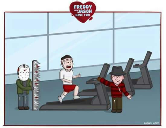Freddy e jason friends - meme