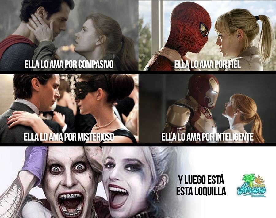Superman-Spiderman-Batman-Ironman-Jokerman - meme