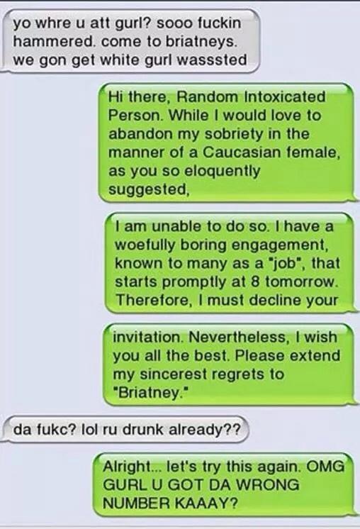 Drunk texts - meme