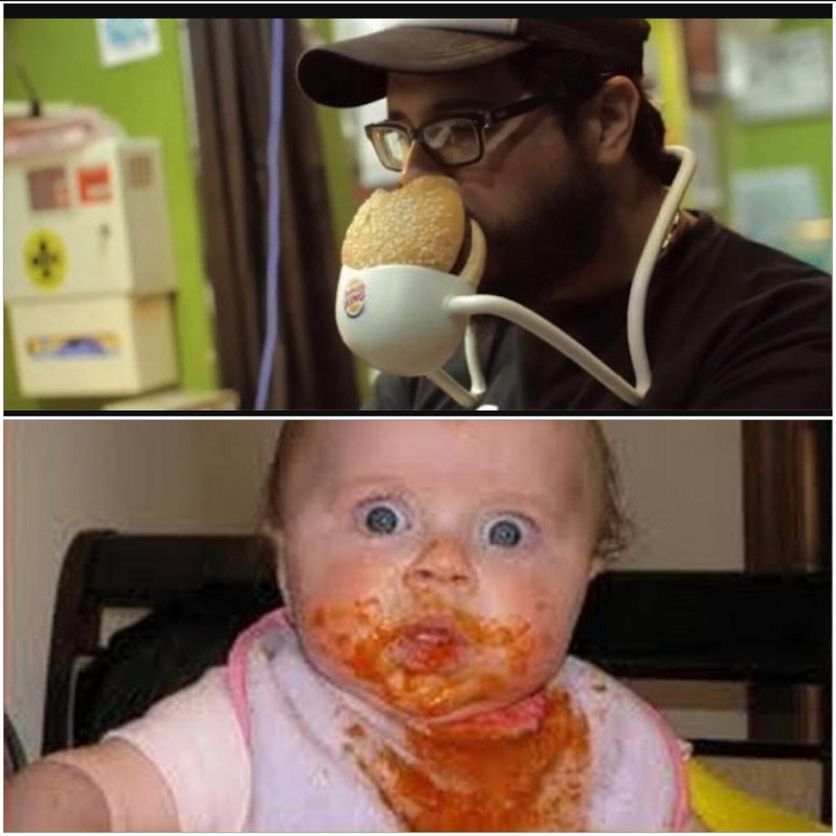 Impossible d'être propre en mangeant comme ça hahahaha - meme