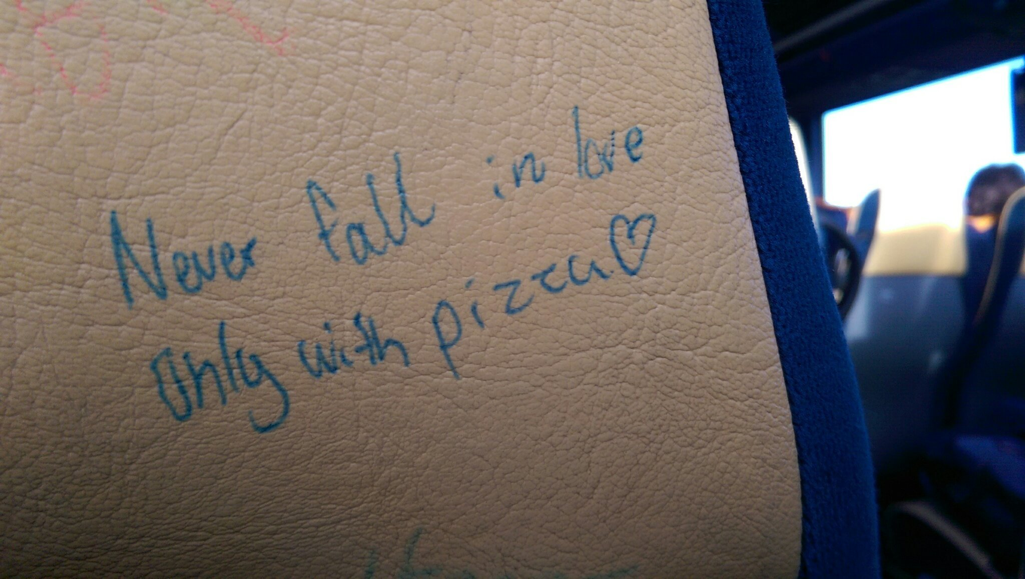 The best advices are found on the back of seats in the bus - meme