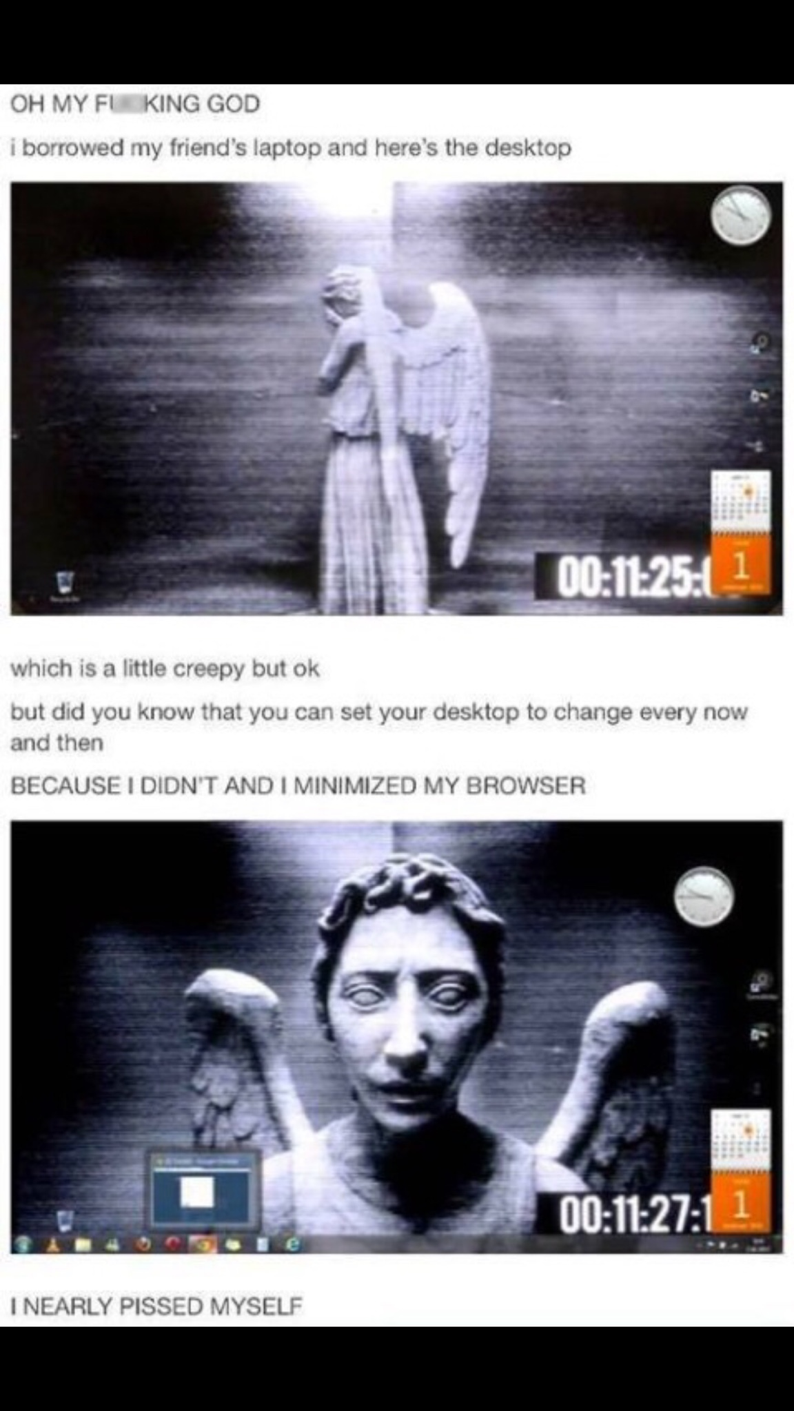 weeping angels man - meme