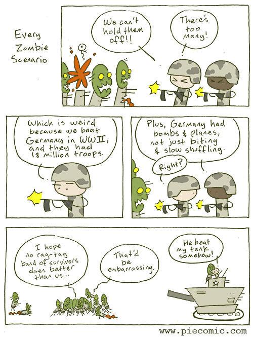 Zombie apocalypse makes no sense - meme