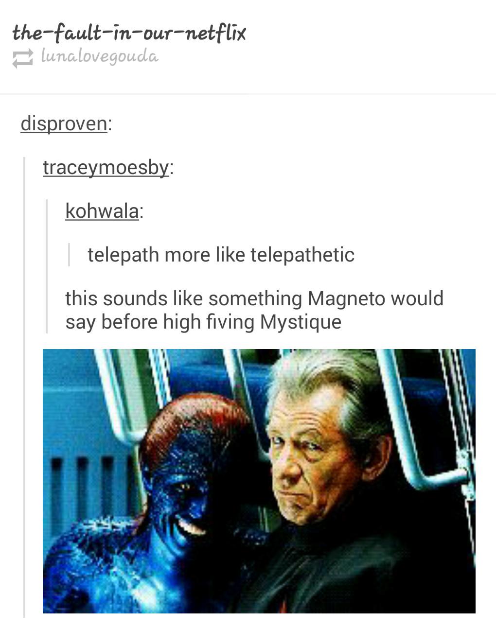 sassy magneto - meme