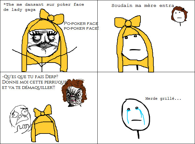 Pokerface fail - meme
