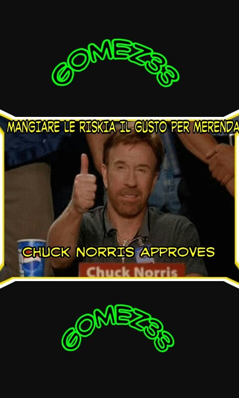Chuck norris approva - meme