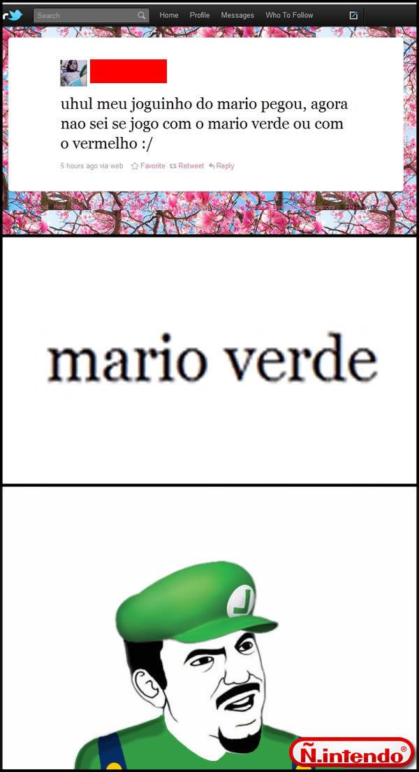 Mario Vermelho ou Verde? - meme