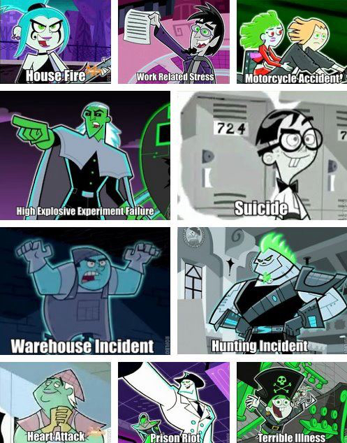 What happened to the ghosts in Danny Phantom - meme