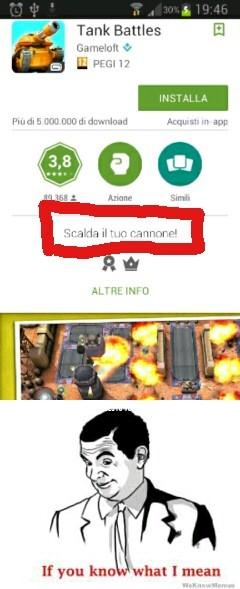 Scalda il tuo cannone! - meme
