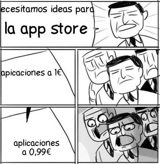 En la app store - meme