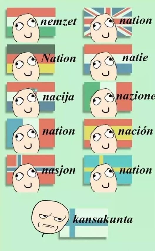 Nacion en finlandes - meme