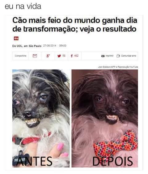Antes e depois - meme