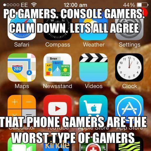 Especially iPhone gamers - meme