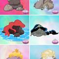 Como seriam as princesas se fossem pedras