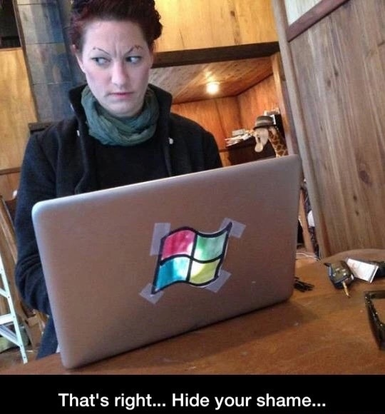 that's right hide your shame apple peasant - meme