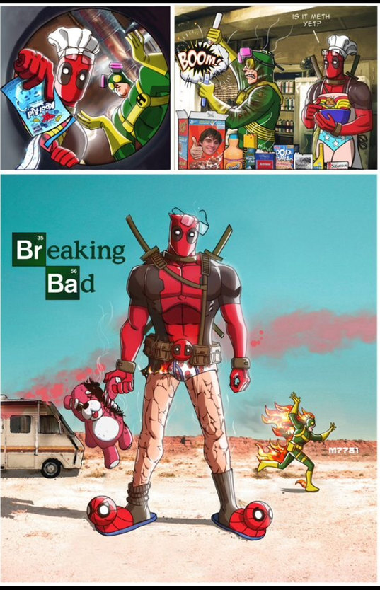 Breaking bad + Deadpool = - meme