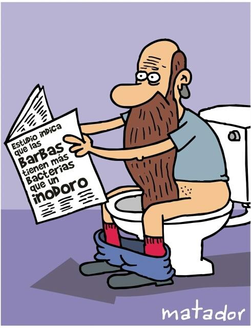 por las barbas - meme