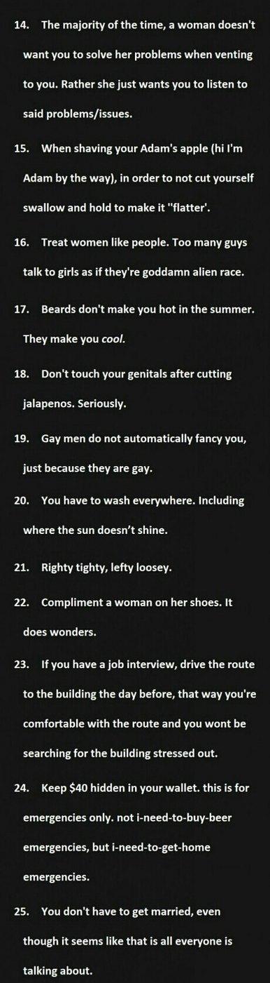 ways to treat a man