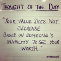You're worth more than you think.