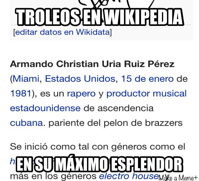 Armando también conocido como Pitbull - meme