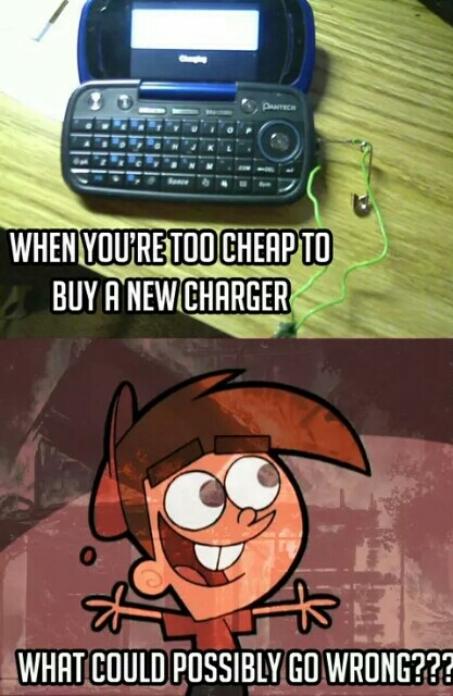 when you are too cheap to get a charger - meme