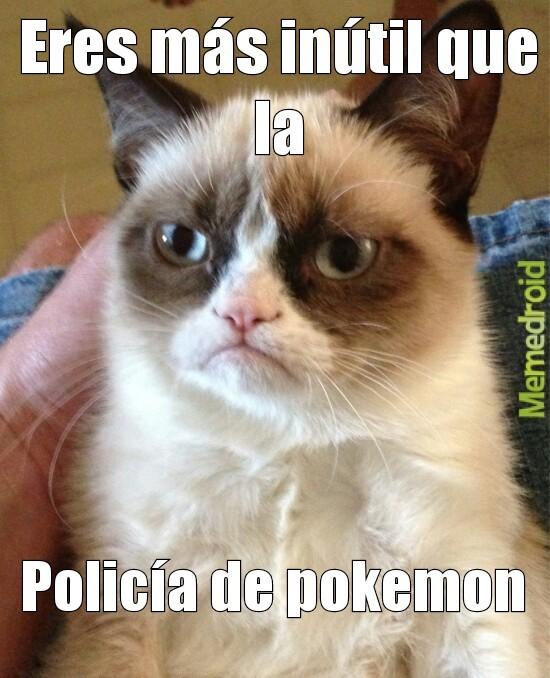 Policía pokemon - meme