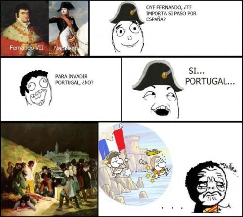 Napoleón y sus mentiras - meme