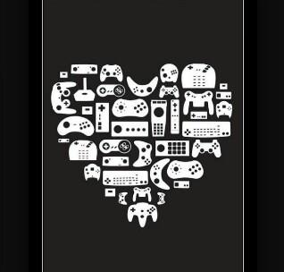 Corazón gamer - meme