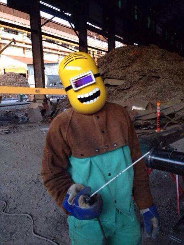He loves his job - meme
