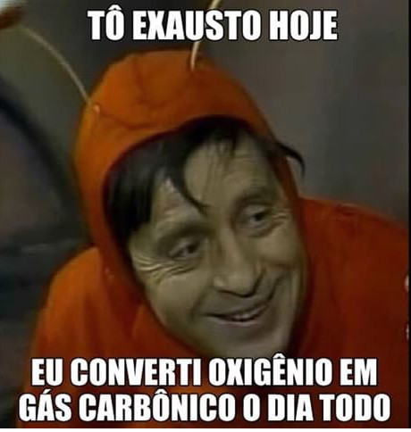 Isso cansa - meme