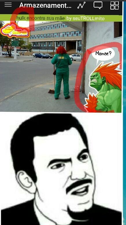 Hulk?Saporra é o Blanka - meme