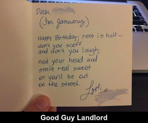 Good guy landlord. - meme