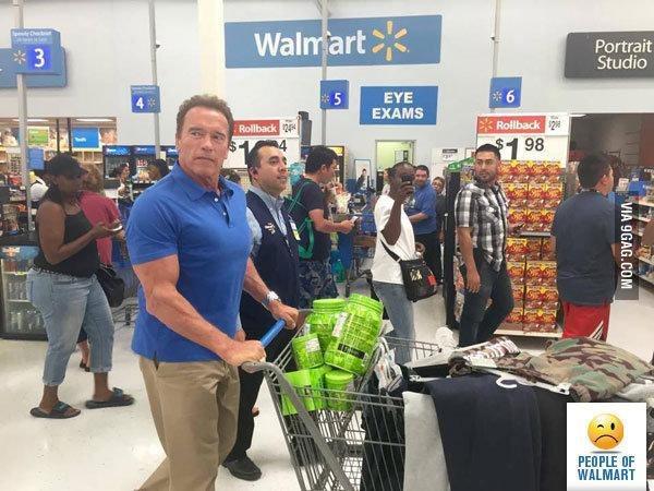 Arnold Schwarzenegger shopping. .. - meme