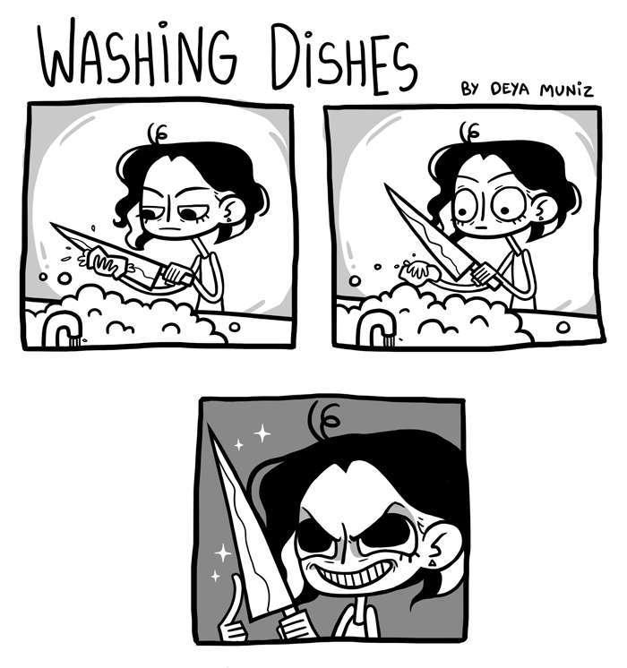whenever I wash the knife - meme