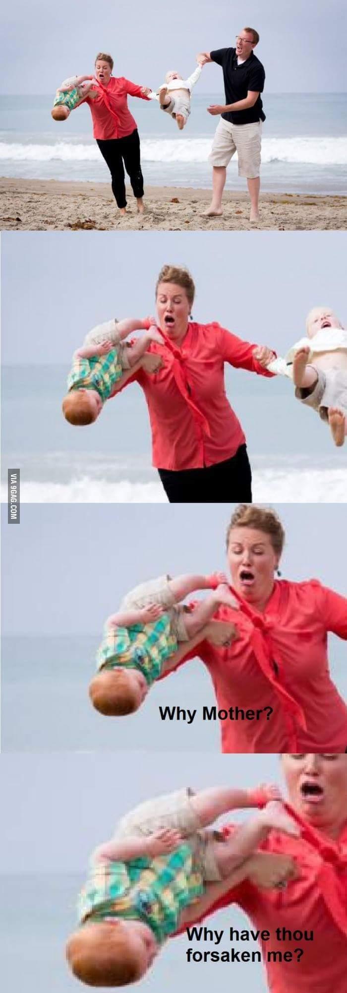 Plot twist: Baby kicks Mother - meme