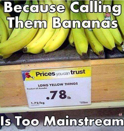 I saw a freakin Giant banana in my halloween paryy - meme