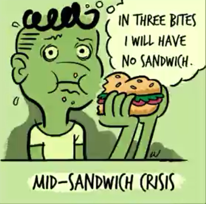 Mid Sandwich Crisis - meme