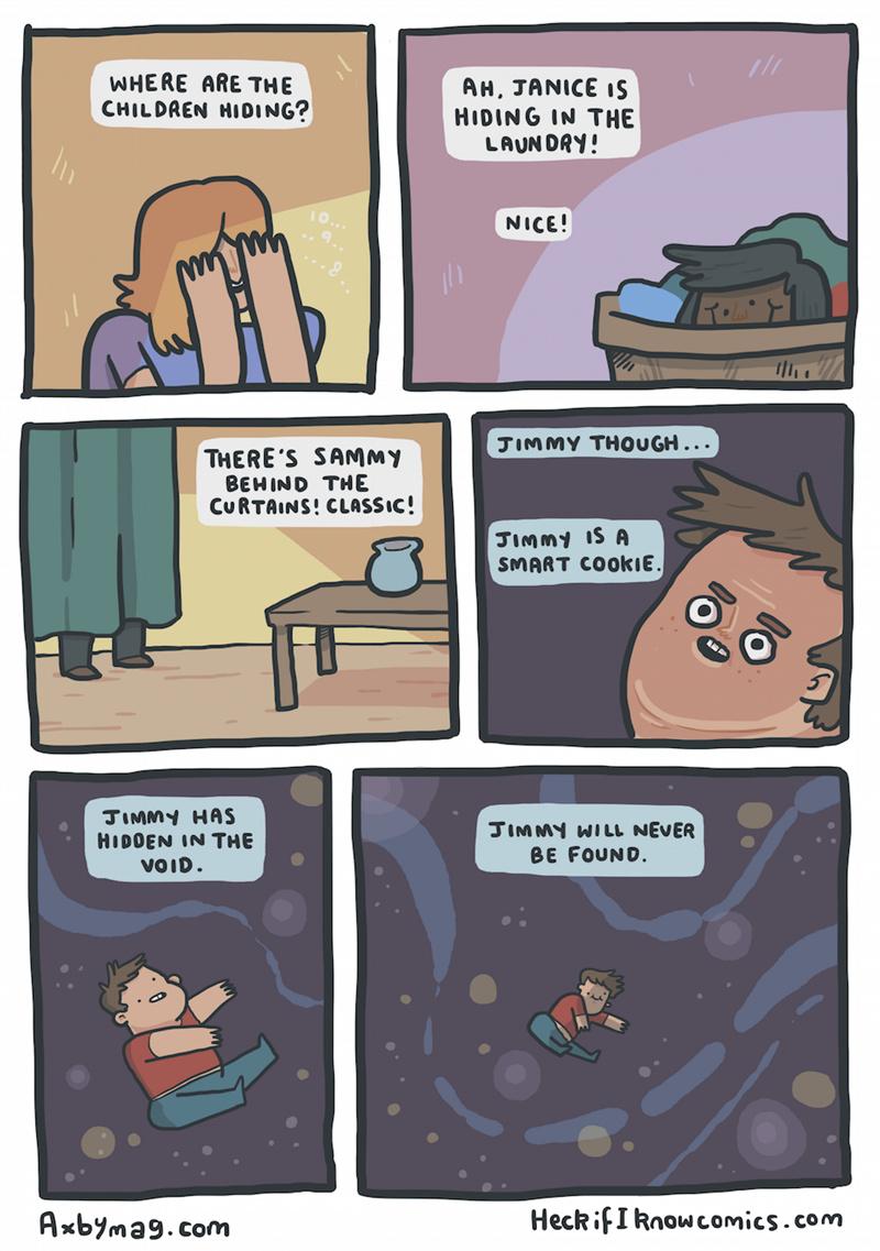 I have hidden in the closet. - meme
