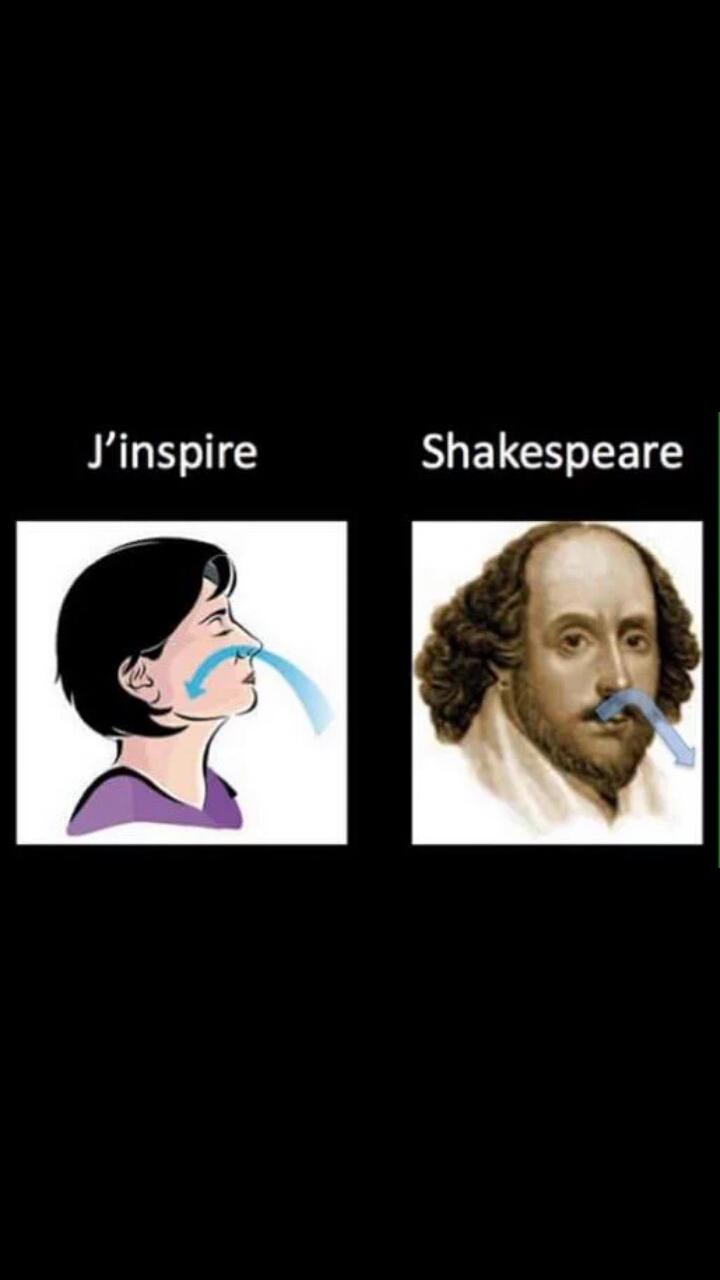J'inspire, Shakespeare