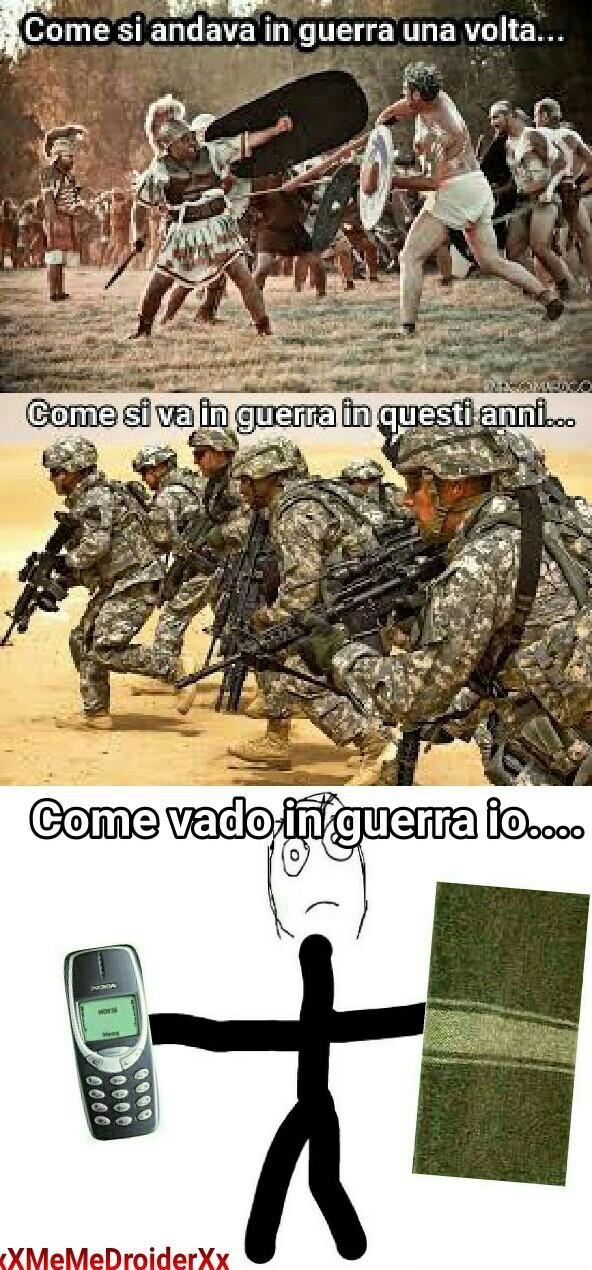 Nokia e coperta si va in guerra... - meme