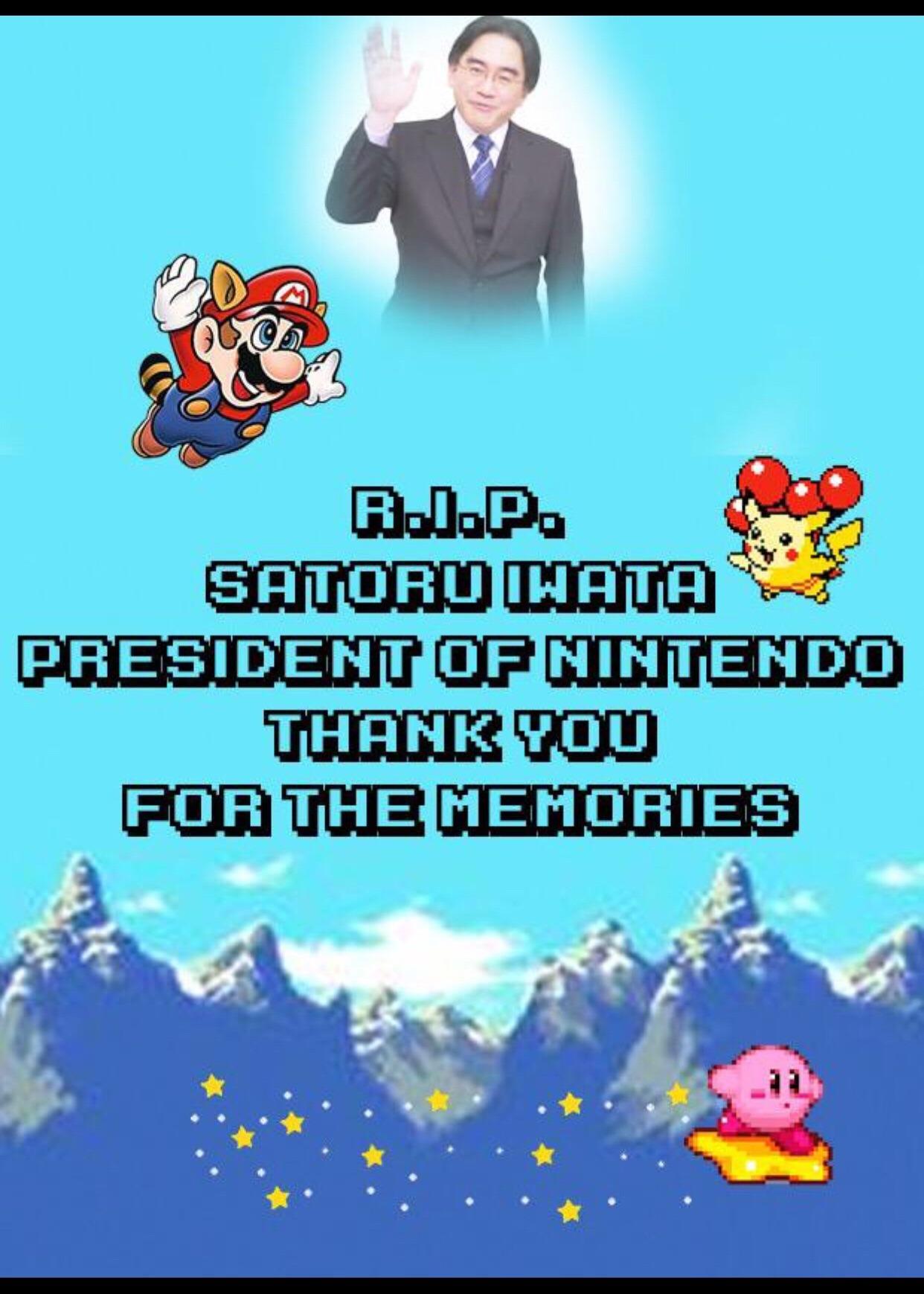 R.I.P Iwata - meme