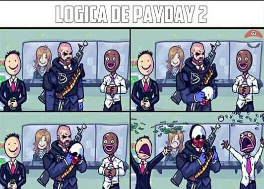 Lógica de PayDay 2 - meme