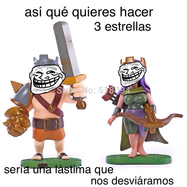 Los que jueguen clash of clans entenderan - meme
