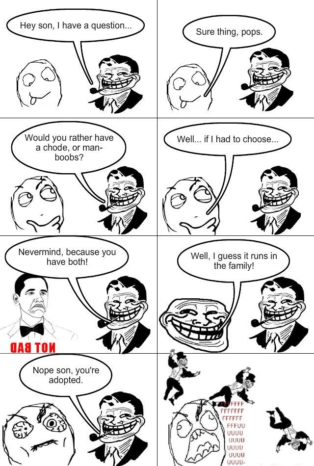 troll dad wins - meme