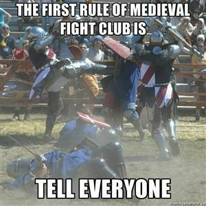 2nd rule: TELL EVERYONE! - meme